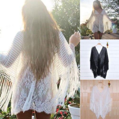 Womens Beach Dress Swimwear Lace Crochet Bikini Beachwear BathingSuit