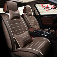 Factory wholesale price four seasons general flax luxury car seat cover seat pad