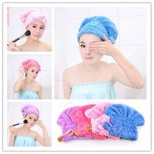 New Magic Quick Hair Drying Bath Spa Bowknot Wrap Towel Microfibre Turban Dry Hat Cap For Bath Bathroom Accessories