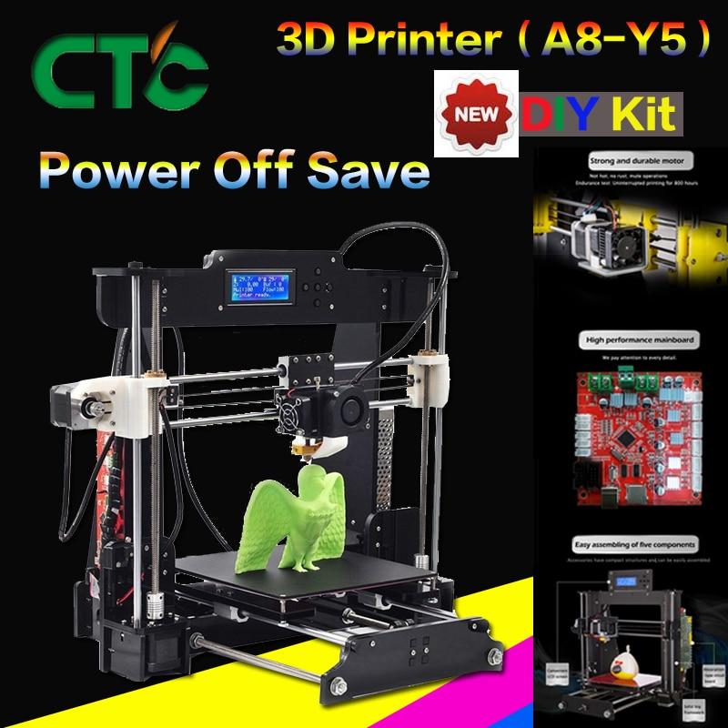 CTC A8 3D Imprimante DIY Haute Précision Bureau Prusa i3 DIY Kit LCD Écran Imprimante Assemblée Auto Soutien
