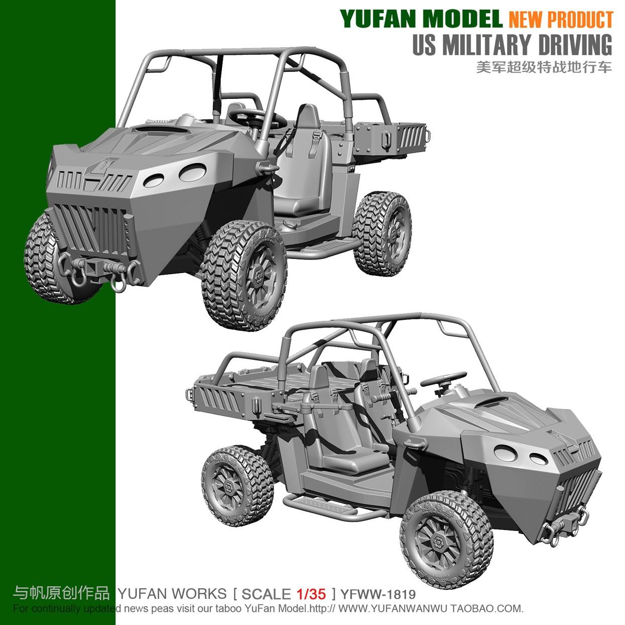 Original 1 / 35 Us Terrain Vehicle Resin Vehicle Yfww 35