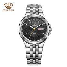 Оригинал Ван Тянь Мужские кварцевые часы SS материал с вольфрама 12 край рамка бесплатная доставка 24 часа отправки GS3611S/DD