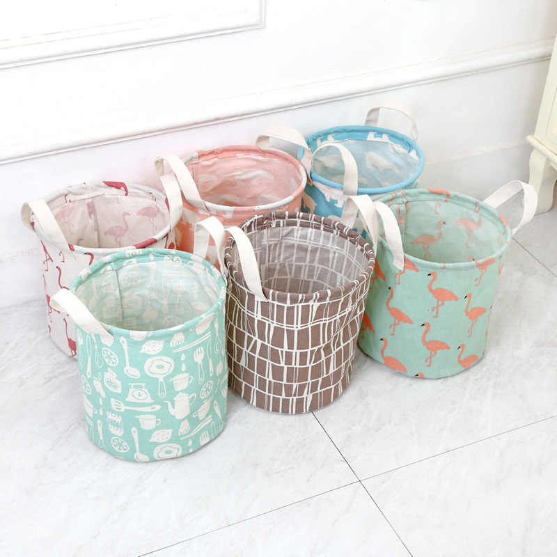Bonito dos desenhos animados de Animais balde de armazenamento roupa Suja cesta de armazenamento de brinquedos para crianças dobrar à prova d' água de armazenamento de artigos diversos organizador bin