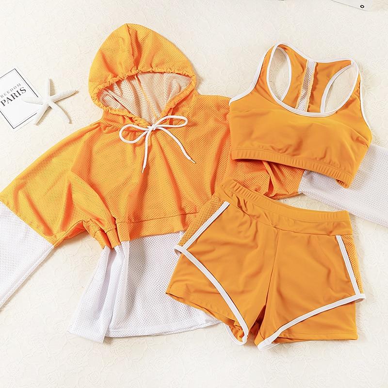 STAERK 2020 뜨거운 수영복 수영복 여자 스포츠 3 조각 수영복 섹시한 Monokini Maillot 드 베인 Femme Bodysuit 수영복 2XL