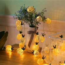Battery Powered Warm White Pineapple Shaped Outdoor Lanterns String Lights For Holidays