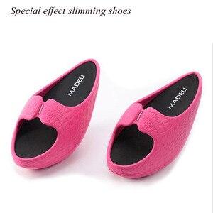 Image 4 - Zapatillas de Fitness masajeador para pérdida de peso para mujer, zapatos femeninos de tacón negativo, zapatillas de deporte tonificantes, zapatos de cuña de arrastre, zapatos de plataforma oscilante
