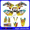 HIGH PERFORMANCE RMZ 250 2007 2008 2009 ROCKSTAR 3M TEAM GRAPHICS GOLD BACKGROUND DECALS STICKERS SETS MOTOCROSS RACING