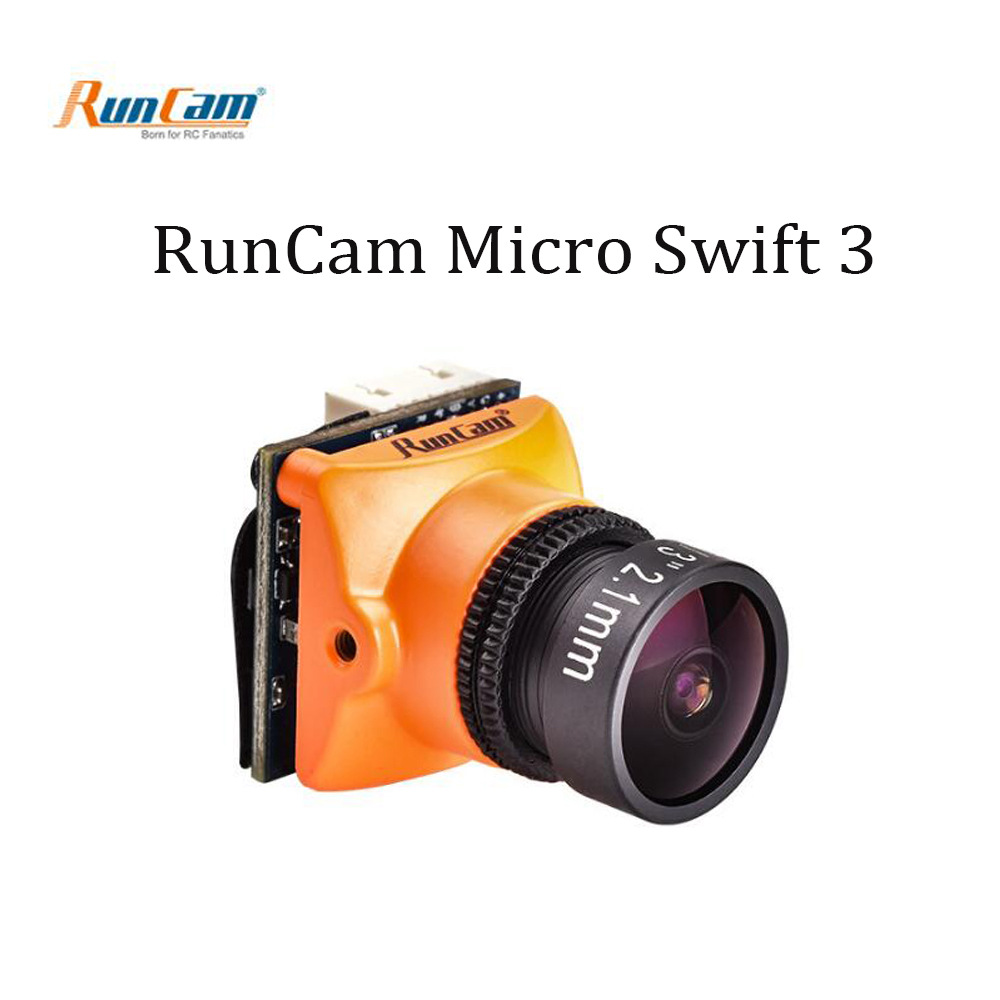 RunCam Micro 600TVL Swift 3 1/3 SONY Super HAD II CCD 2.1mm Built-in Remote Control M12 Lens FPV camera for Racing Drone Quad runcam micro swift 2 600tvl 2 1mm 2 3mm fov 160 145 degree 1 3 ccd fpv camera with built in osd