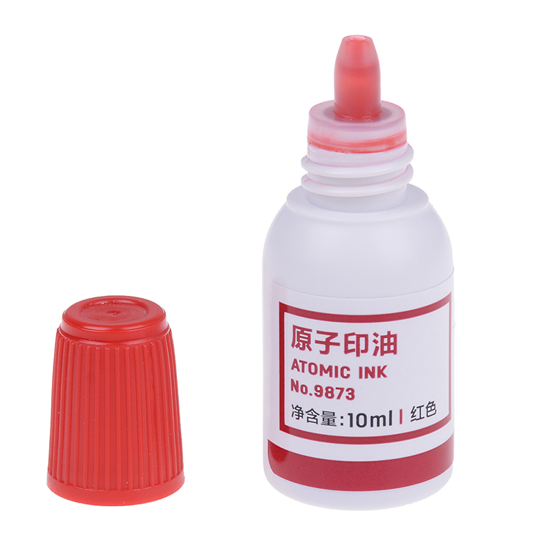10ml Refilling Ink Stamp Pad Waterproof Permanent Red Useful Tool 1Pc