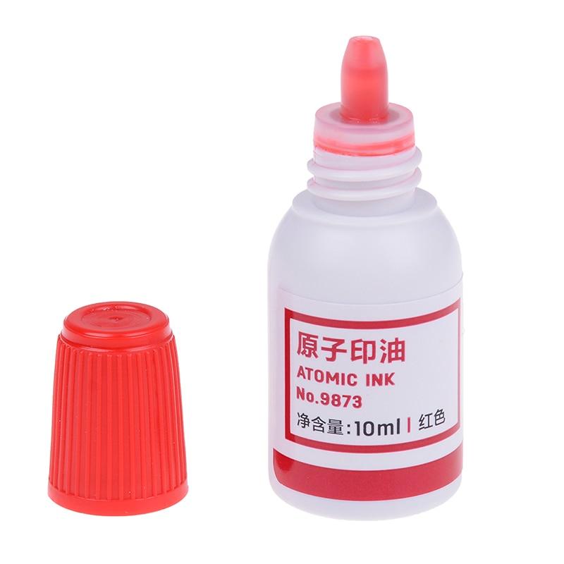 10ml Refilling Ink Stamp Pad Waterproof Permanent Red Useful Tool 1Pc