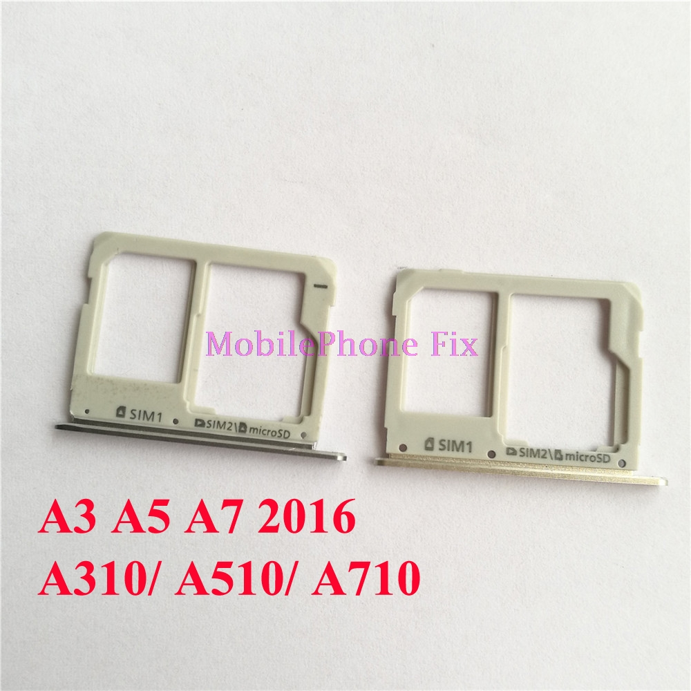 20 PCS Sim Card Tray + SD Card Tray For Samsung Galaxy A3 A5 A7 2016 A310 A510 A710 Sim+SD Card Tray Slot Holder Parts