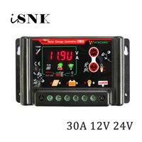 30A 12V 24V Solar Panel Charge Controllers Regulator 3.7V 12.8V 11.1V 14.8V 22.2V 25.6V LI LI ION NI MH LiFePO4 Battery