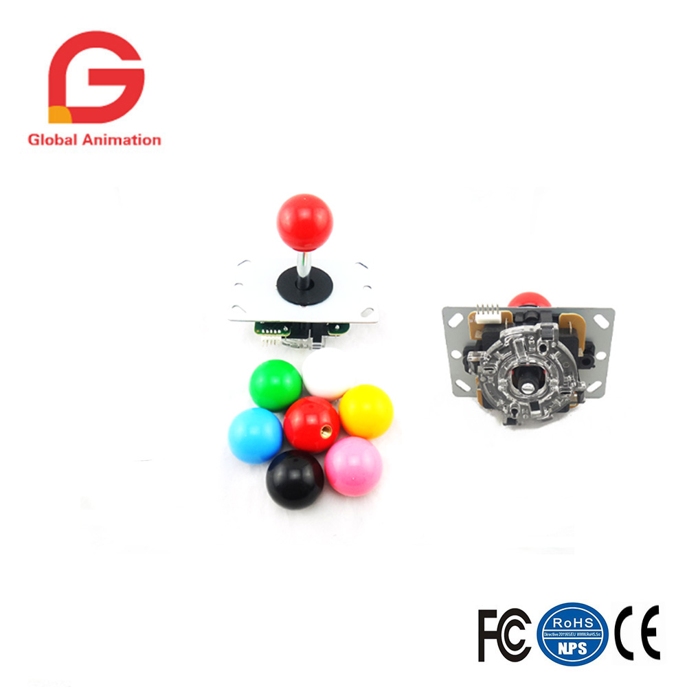 2 PCS Copy Sanwa Joystick With Circuit Board For Pandora Box 4s Game Console High Quality Multi Color