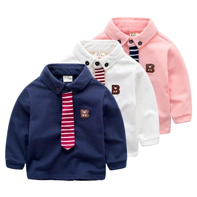 Baby children long sleeved polo shirt Lapel T-shirt coat Korean boy fashion wear new long sleeved spring section
