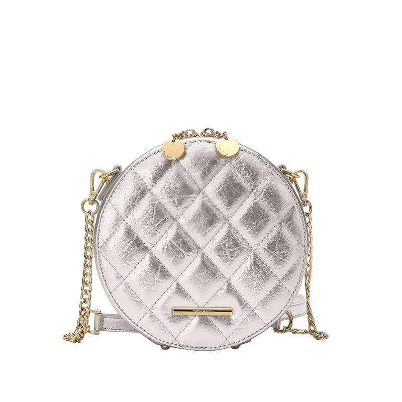 Jonbag маленькая сумка 2019 новая модель куртки с хлопковой подкладкой в Корейском стиле женская сумка Lingge круглый мешок из полиуретана на высоком уровне air один на плечо округлая сумка - 5