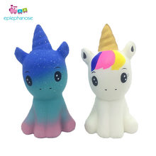 New Unicorn Doll Squishy Toys For Children Adults Anti Stress Relief Toys Squishi Slow Rising Soft Animal Squeeze Toy Kids Gift(China)