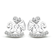 GNE1022 Wholesale 9.5*9.8mm Horse Earrings Fashion Women Jewelry 925 Sterling Silver Stud Earrings for Christmas Free Shipping