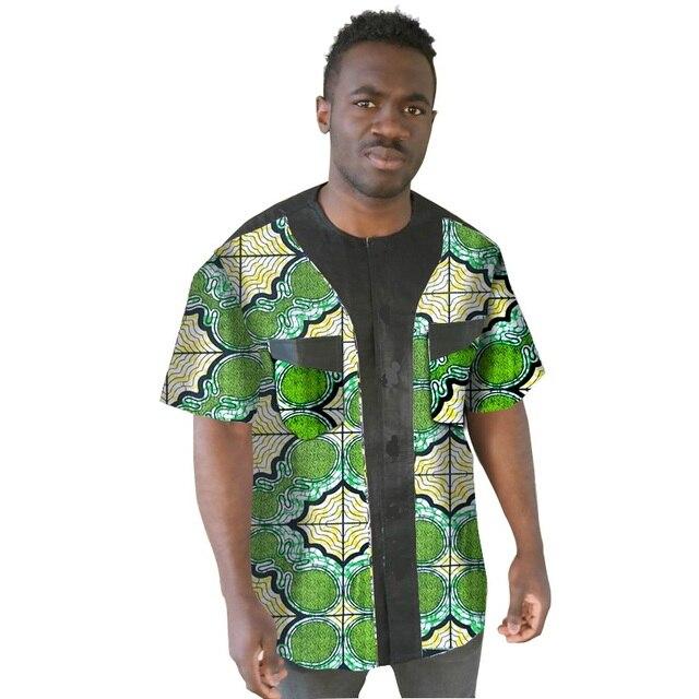 Africano mens desgaste africa ropa hombres ropa de moda camisa de manga corta ropa africana africano hecho a medida