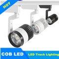 1 pcs 110 V 220 V levou holofotes trilho faixa de luz da lâmpada 30 W COB LED faixa de luz