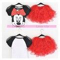Nuevo Hello Kitty Girls Mackey Ratón Niñas Vestido de Partido De Los Cabritos ropa de Bebé Niños Bebé Chica de Moda de Verano Hermosa Un Conjunto vestidos
