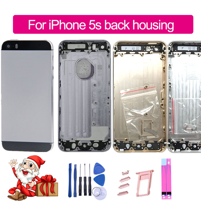 Replacement Housing iPhone Battery-Cover IMEI Back Sticker--Tool for 5S Rear-Door