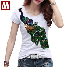 Artsnie summer 2019 cartoon red women t shirt o neck short sleeve knitted streetwear