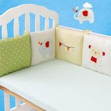 6 шт./партия, детская кровать, бампер, протектор, Комплект постельного белья для новорожденных, детская кроватка, бампер для малышей, мультяшная кровать для младенцев