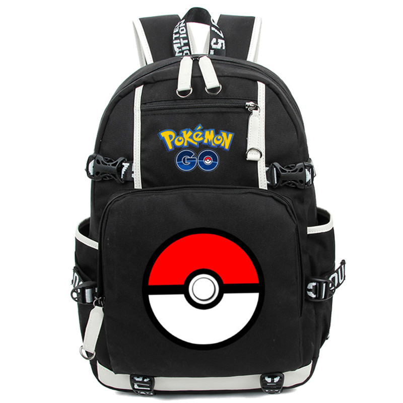 New Fashion Pokemon Backpack Anime Pocket Monster Cosplay Nylon Rucksack Boys Girls Teenagers School Travel Bag Mochila sosw fashion anime theme death note cosplay notebook new school large writing journal 20 5cm 14 5cm