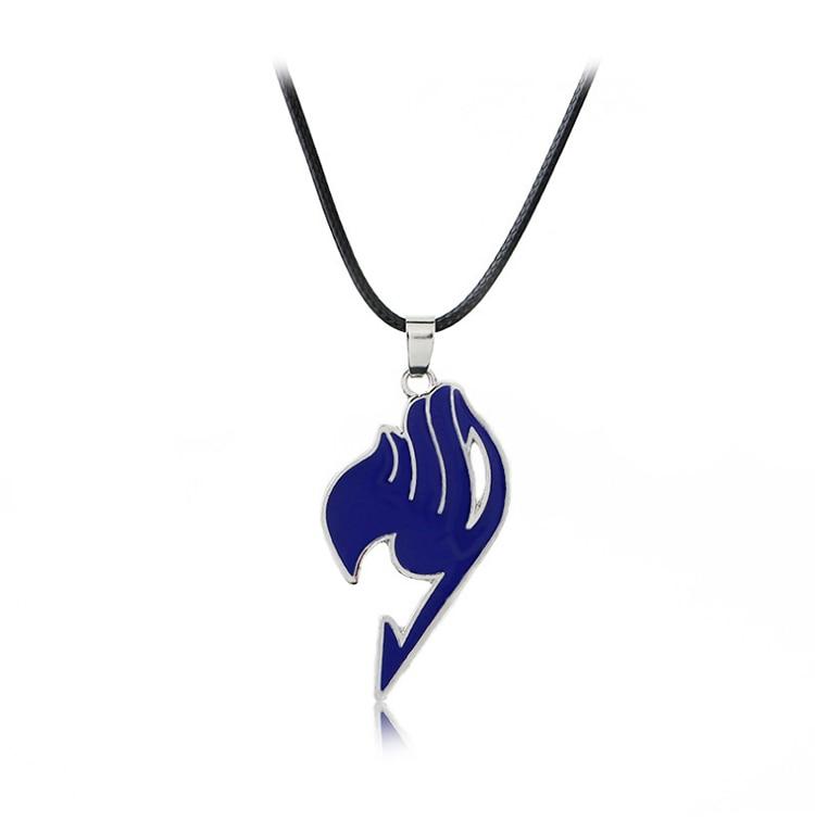 Лидер продаж, 6 цветов, модная подвеска в стиле аниме, сказочный хвост, кожаная веревка колье, ювелирные изделия для мужчин и женщин, подарки - Окраска металла: Blue