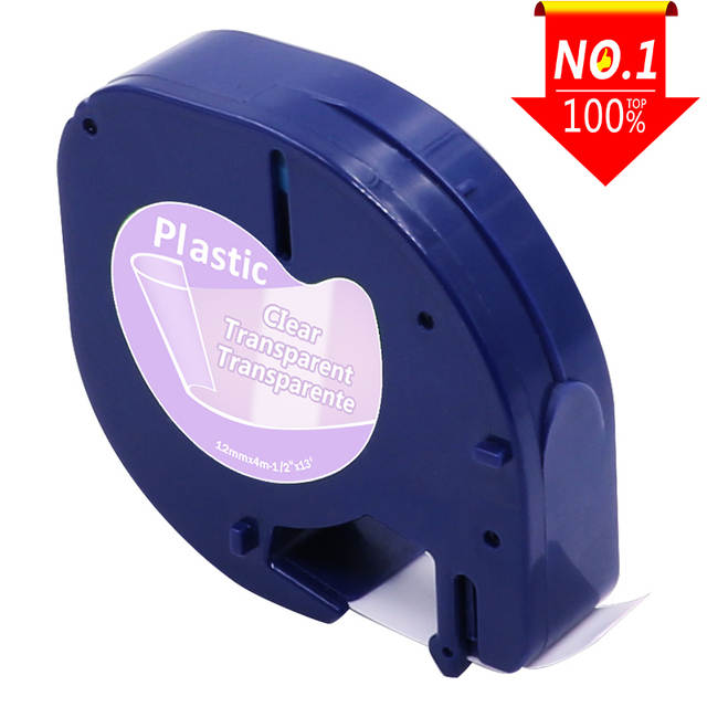 1pcs Compatible for DYMO LetraTag Label Tape 12mm 12267 91200 91201 92102  91203 91204 91205 for DYMO Label Printer maker