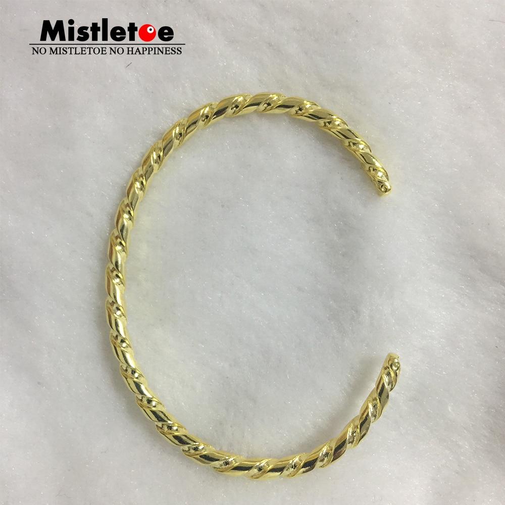 Oryginalna 925 Sterling srebrny złoty kolor skręcone bransoletka srebrna bransoletka pasuje europejskiej Troll biżuteria nie zawiera charms w Bransoletki od Biżuteria i akcesoria na  Grupa 1