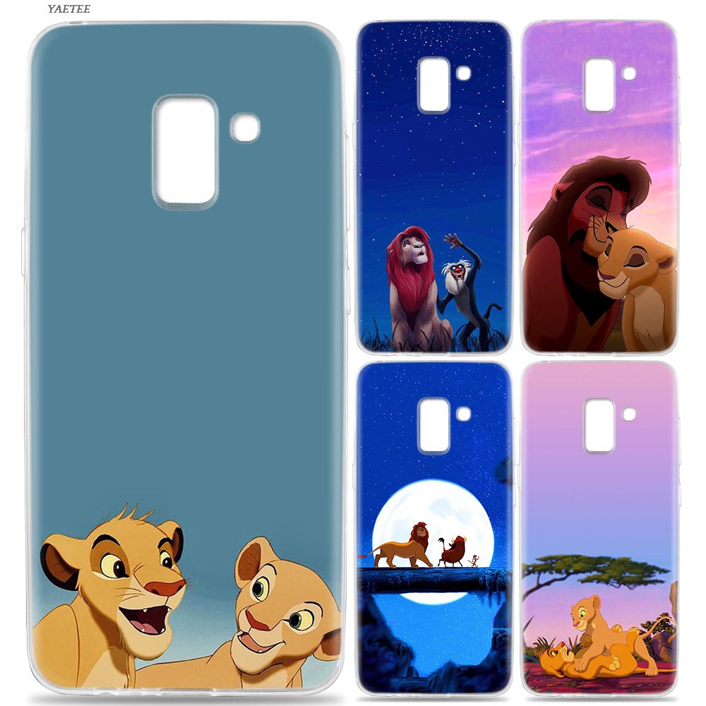De Lion King Grumpy Kat Simba Soft Case Voor Samsung Galaxy J4 J6 Plus J3 J5 J7 J8 J2 Pro 2018 2016 Offical Painted Cover Elegant In Geur