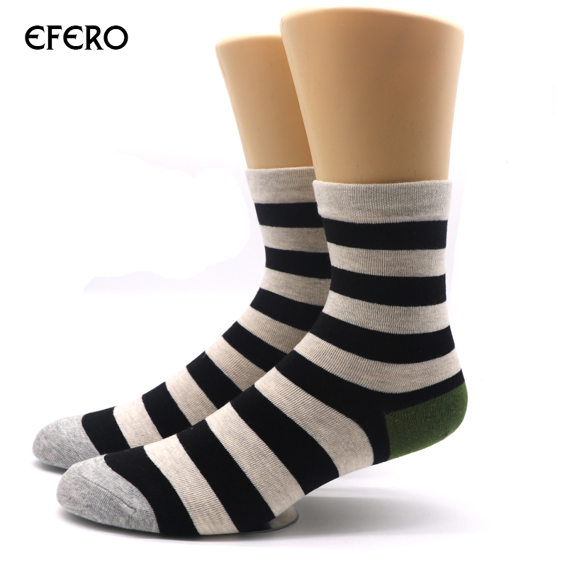 efero 2pair Fashion Men Winter Socks Cotton Warm Thermal Stripe Socks Mens Dress Socks Crew Sokken Heren Calcetines Meias Homen