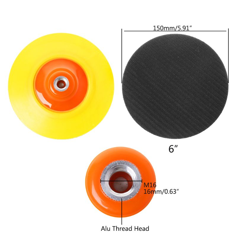 "6/"" 140mm Car Polish Wax Cleaning Wash Sponge Buffer Pad M14 M16 Polisher Pads"