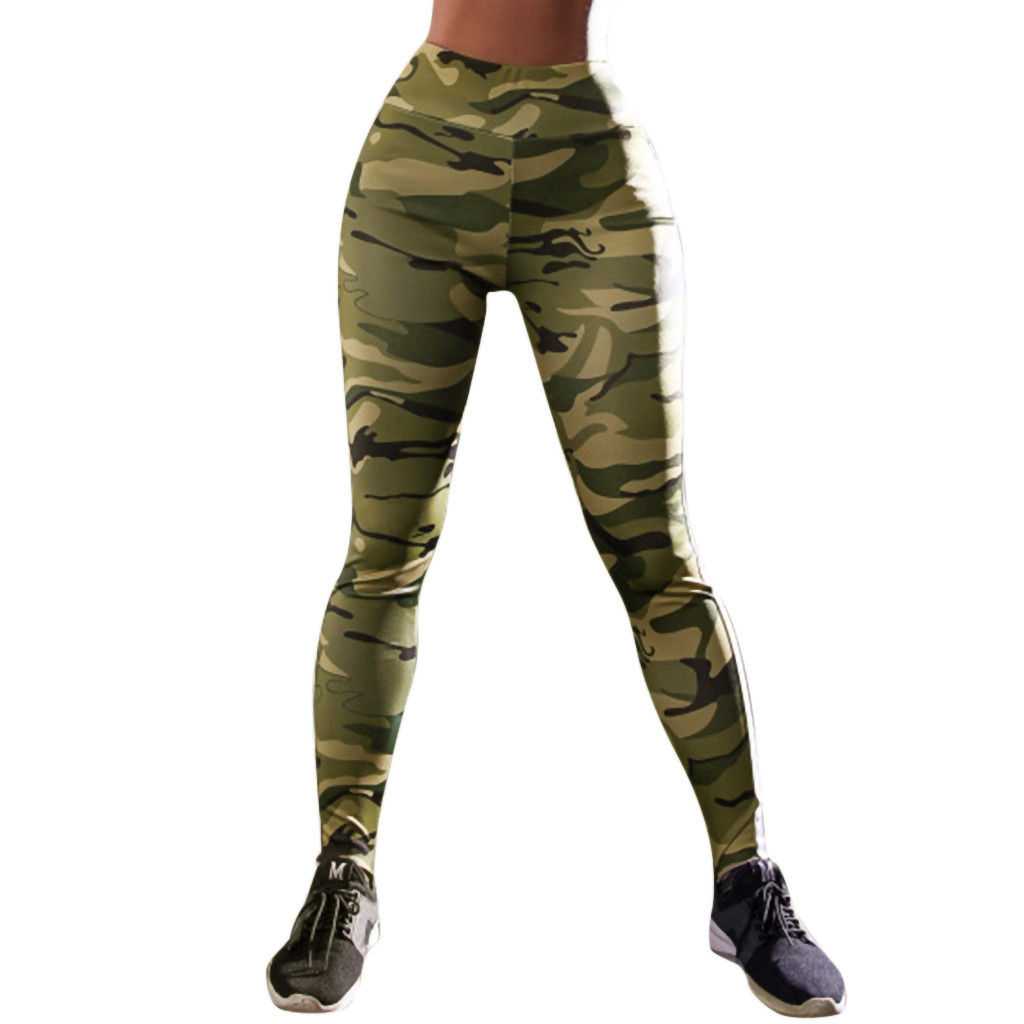 Leggings   Sport Women Fitness Workout Activewear Push Up Pencil Pants Camouflage Print Fashion Modis High Waist Legings Leggins