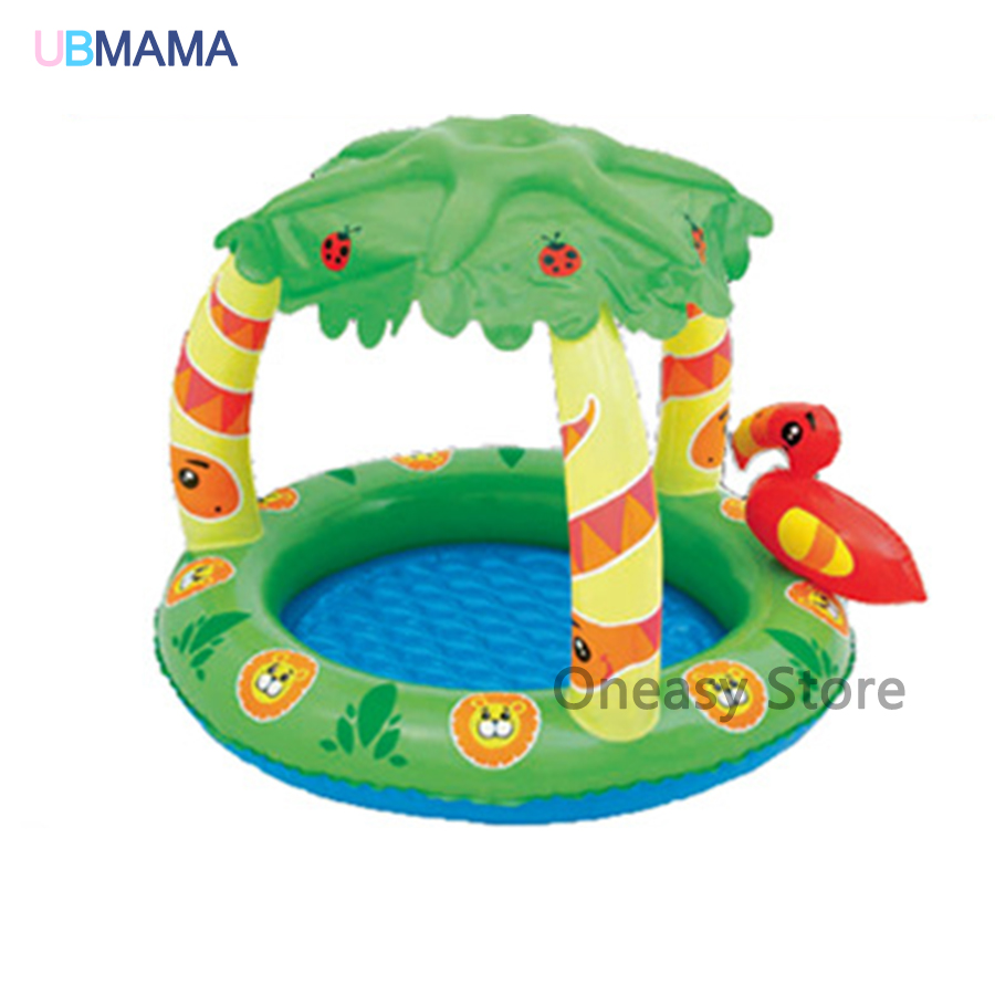 High Quality Pattern Lovely Sunshade Pool Baby Swimming Pool Children Baby Bath Basin Sea Pool Bottom Aeration