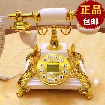 European high-grade natural jade card phone wireless telephone landline phone phone home Decoration home classical ID backlit