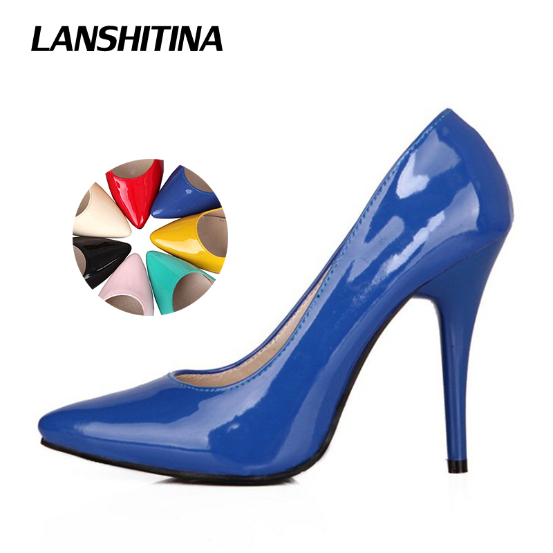 Big Size 30-48 Women Stiletto Heels Black Pumps High Heel Pointed Toe Sexy Shoes Ladies Party Shoes Brand Woman Talon Femme 797 fanyuan 10cm super high heels women shoes stylish stiletto woman pumps pointed toe ladies shoes evening party shoes black heels