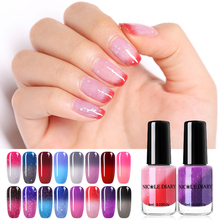 NICOLE DIARY 6ml Thermal Nail Polish Temperature Color Changing Peel Off Glitter Varnish Sequins Shinning Art Lacquer