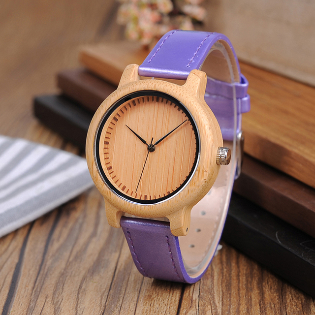 BOBO BIRD Wooden Bamboo Women Watches bayan kol saati Quartz Ladies Wrist watch