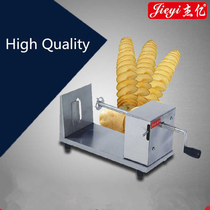 Manual Stainless Steel Potato Slicing Machine Commercial Tornado Spiral Potato Chips Cutter  цены