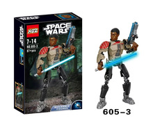 XSZ 605-3 Star Wars Series Finn FN-2187 Imperial Army Soldiers Building Block Minifigure Toys Compatible Legoe