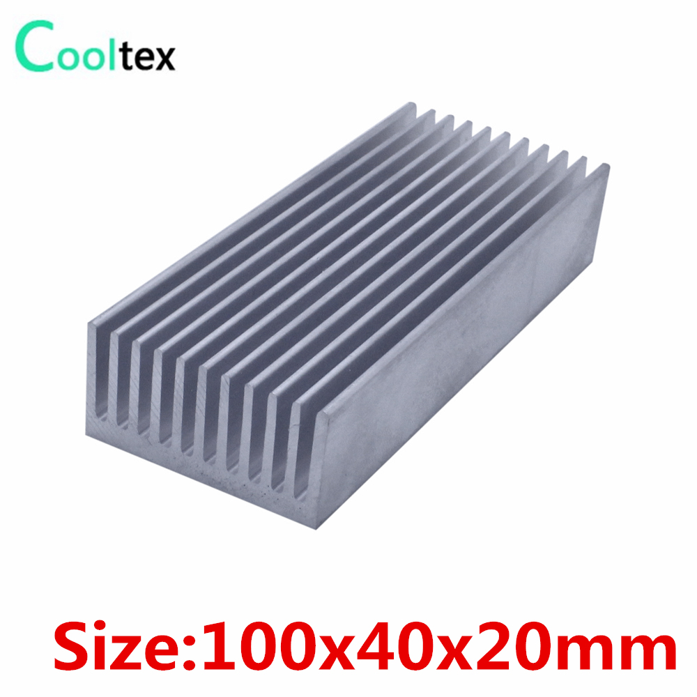 10pcs/lot 100x40x20mm Aluminum heatsink radiator heat sink for chip LED cooling cooler high power 125x125x45mm aluminum heatsink heat sink radiator for electronic chip led cooler cooling recommended