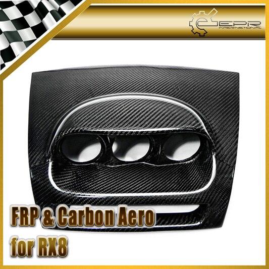 Автомобильные аксессуары для Mazda RX8 углеродного волокна черточки Трехместный Gauge Pod RHD 60 мм Глянцевая Fibre Aotu интерьер инструмент Крышка отдел