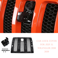 Engine Cover Accessories Car Lock Hood Latch Catch Cover Lock Hood Set For Jeep Wrangler JL 2018 2019