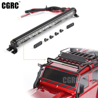 RC Car Parts Trx4 Metal LED Roof Lamp Light Bar For 1 10 RC Crawler Traxxas
