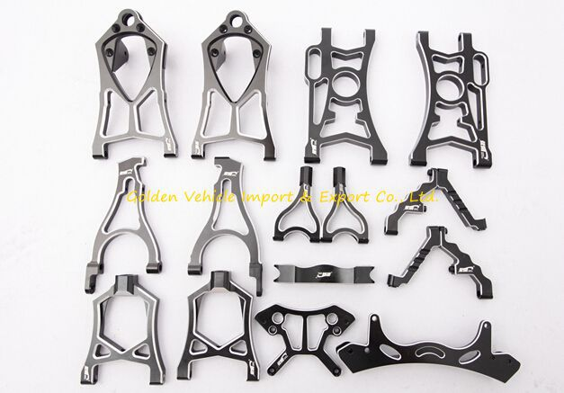 2015 king motor nice alloy arm set fit baja 5b 5t 5sc 1 5 rc car racing parts alloy rear lower arm dark for baja 5b 5t 5sc king motor truck