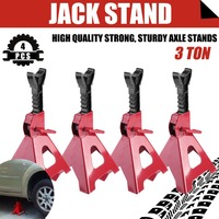 4 PCS Heavy Duty Car Floor Jack Vehicle Repair Tools Height Adjustable Jack Stand 3 Ton Lifting Capacity Car Support Frame