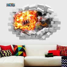 Removable Luffy 3D Poster 50*70 cm (19.69*27.56 inch)