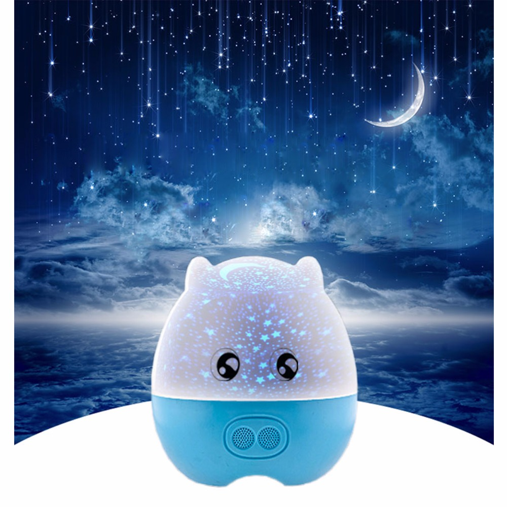 Rotating laser star night light projector starry sky for children kids speaker with music remote control romantic gift for her in night lights from lights